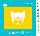 cat   logo  protect sign icon | Shutterstock .eps vector #1031541823