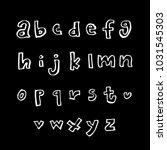 vector fonts   handwritten... | Shutterstock .eps vector #1031545303