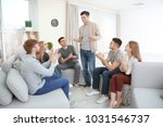 young man talking about his...   Shutterstock . vector #1031546737