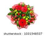 bouquet of gerberas  tulips ... | Shutterstock . vector #1031548537