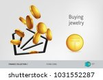 diamond icon with flying...   Shutterstock .eps vector #1031552287