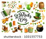 st. patrick's day traditional... | Shutterstock . vector #1031557753