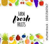 vector illustration of fruits... | Shutterstock .eps vector #1031560567