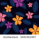 seamless pattern tropical...   Shutterstock .eps vector #1031561407