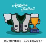 american football equipment | Shutterstock .eps vector #1031562967