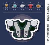 american football equipment | Shutterstock .eps vector #1031563033