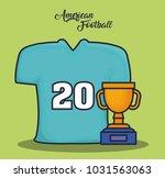 american football equipment | Shutterstock .eps vector #1031563063