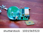 electronic printed circuit... | Shutterstock . vector #1031565523