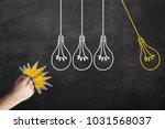 fist beating bulbs. human... | Shutterstock . vector #1031568037