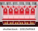 soccer dressing rooms team.... | Shutterstock .eps vector #1031569063