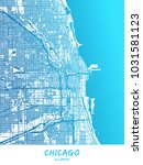 chicago downtown and... | Shutterstock .eps vector #1031581123