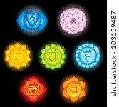 chakra symbols | Shutterstock . vector #103159487