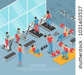 fitness center interior with... | Shutterstock .eps vector #1031603527