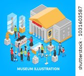 museum isometric composition... | Shutterstock .eps vector #1031603587