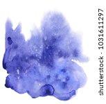 blue abstract watercolor spot...   Shutterstock . vector #1031611297