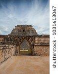 majestic ruins in uxmal mexico. ... | Shutterstock . vector #1031613067