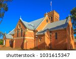 Victorian Romanesque style Holy Trinity Anglican Church completed in 1854 in York, a popular tourist town east of Perth, Avon Valley.York is the oldest and first inland settlement in Western Australia