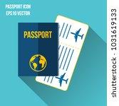 passport icon vector... | Shutterstock .eps vector #1031619133