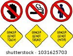 danger do not touch smoke and... | Shutterstock .eps vector #1031625703