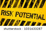 danger  risk warning sign  worn ... | Shutterstock .eps vector #1031633287