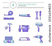 vector colored line style icons ... | Shutterstock .eps vector #1031634823
