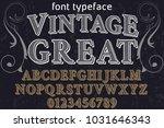 vintage font typeface... | Shutterstock .eps vector #1031646343