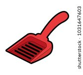 shovel to collect pet waste | Shutterstock .eps vector #1031647603
