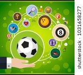 sport flat icon concept. vector ... | Shutterstock .eps vector #1031658277