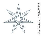 seven point star or septagram ... | Shutterstock .eps vector #1031659717