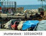 beirut  lebanon   4.29.05 cars... | Shutterstock . vector #1031662453