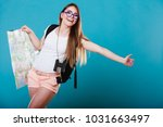 travel vacation hitchhiking... | Shutterstock . vector #1031663497
