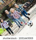 junior school girls and boy... | Shutterstock . vector #1031665003
