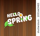 vector hello spring banner with ...   Shutterstock .eps vector #1031665483