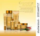 vector 3d cosmetic illustration ...   Shutterstock .eps vector #1031668717