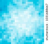 abstract square pixel mosaic... | Shutterstock . vector #1031688667
