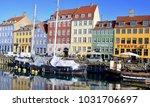 nyhavn  popular tourist... | Shutterstock . vector #1031706697