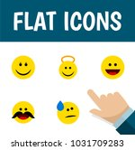 icon flat face set of cold... | Shutterstock .eps vector #1031709283