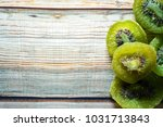 dried kiwi fruit isolated on... | Shutterstock . vector #1031713843
