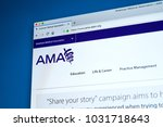 Small photo of LONDON, UK - FEBRUARY 8TH 2018: The homepage of the website for the American Medical Association - the largest association of physicians in the United States, on 8th February 2018.