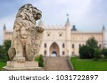 royal castle in lublin with... | Shutterstock . vector #1031722897