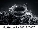 ayurvedic herb liquorice root... | Shutterstock . vector #1031725687