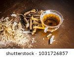 ayurvedic herb liquorice root... | Shutterstock . vector #1031726857