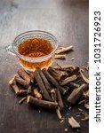 ayurvedic herb liquorice root... | Shutterstock . vector #1031726923