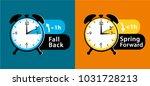 daylight saving time. summer... | Shutterstock .eps vector #1031728213