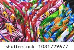colorful flower patterned...   Shutterstock . vector #1031729677