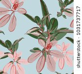 seamless tropical pattern with...   Shutterstock .eps vector #1031737717