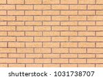 the plastered and painted brick ... | Shutterstock . vector #1031738707