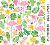vector tropical seamless...   Shutterstock .eps vector #1031739067