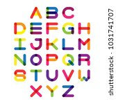 colorful font and alphabet....   Shutterstock .eps vector #1031741707