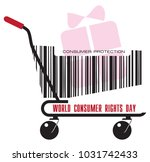 a trolley from the store with a ... | Shutterstock .eps vector #1031742433